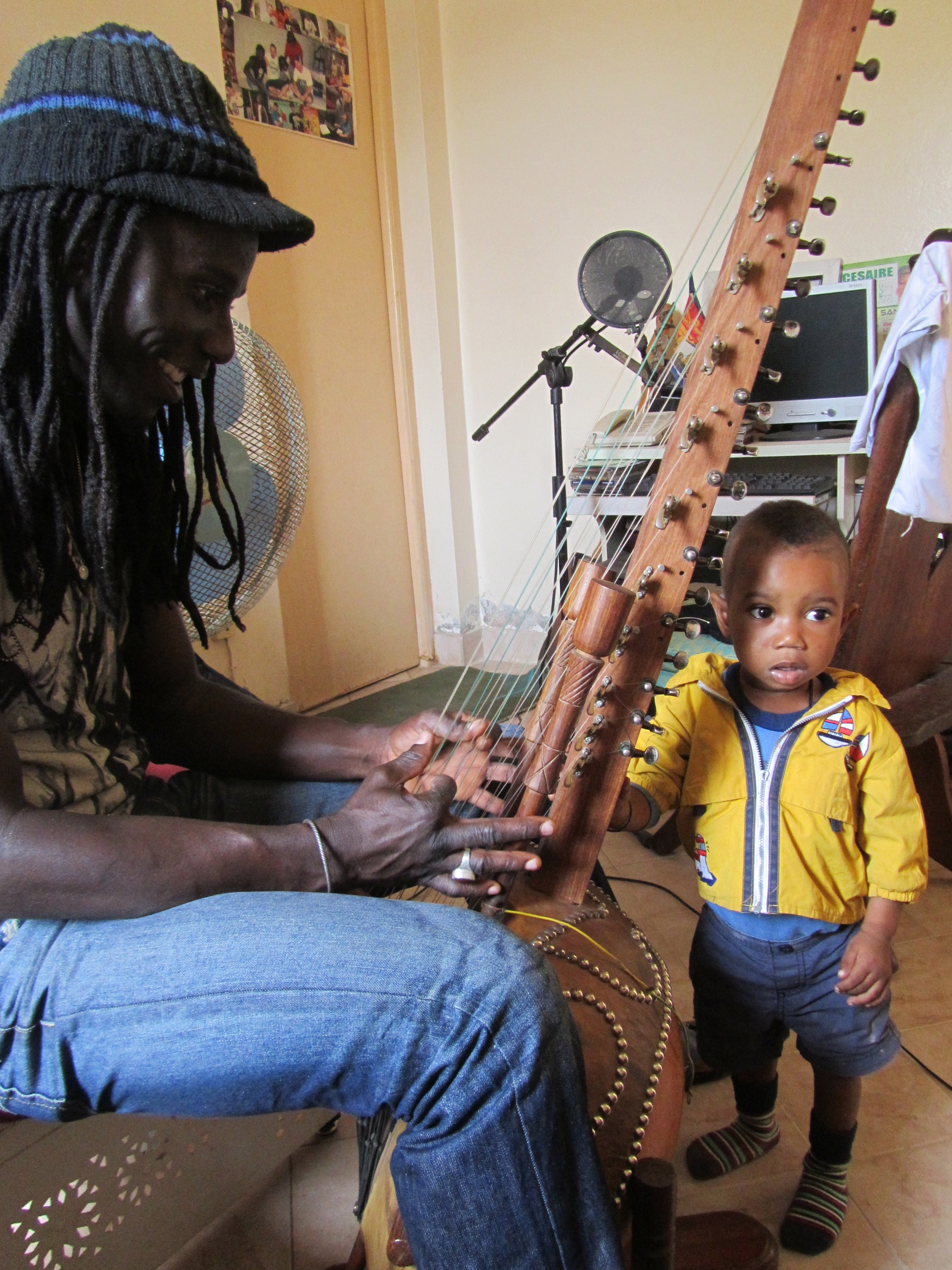 Edou (my kora teacher) and his nephew, Mali, future korist